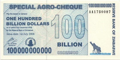 Zimbabwe dollars inflation rate