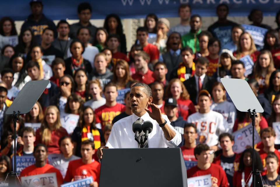 Barack Obama Speaking At USC