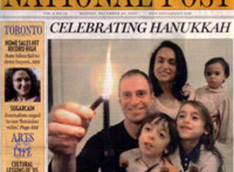 Chantal and family pictured in the National Post