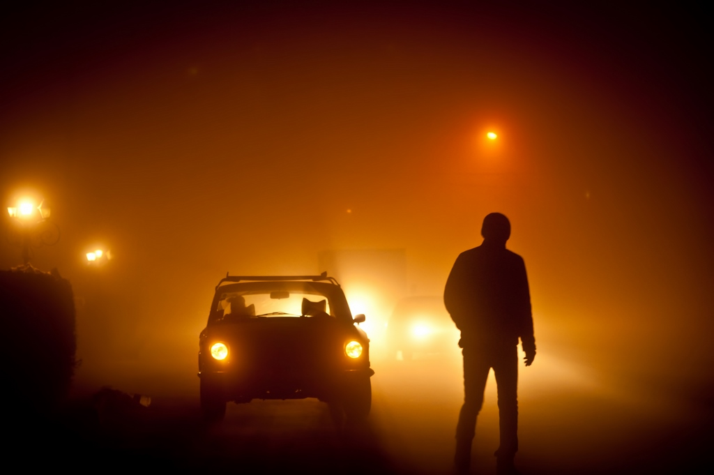 car-and-man-in-fog