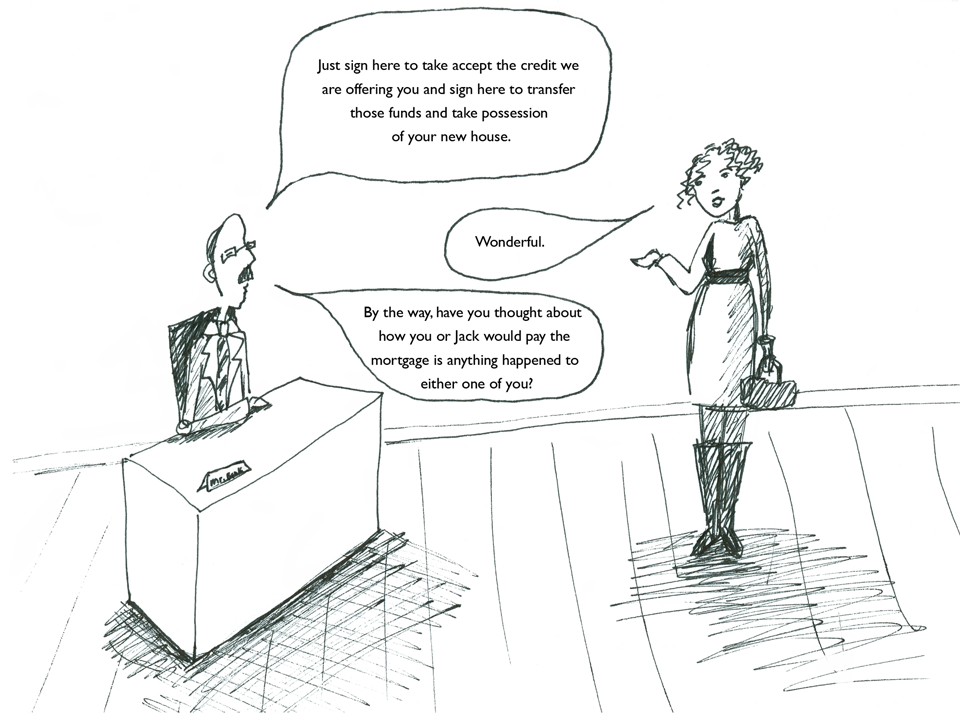Mortgage Life Insurance cartoon 02