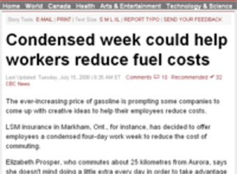 Our four-day work week campaign to reduce commuting gas costs gains media exposure